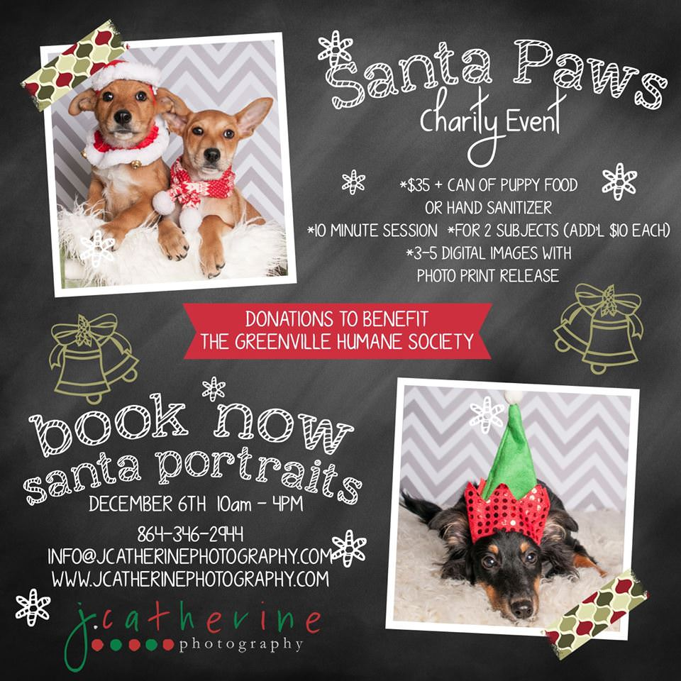 Santa Paws Pet Photo Session | Greenville Humane Society ...